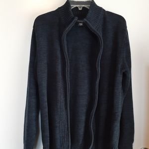 Structure navy blue zip up sweater